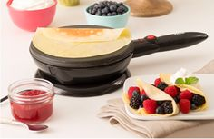 Crepes...not just a dessert...Perfectly prepared crepes are yours for the making once again when we re-launch the Velata Crepe Maker! Our Crepe Maker is a great choice for any meal, snack or get together and its simplicity and ...