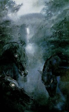 Alan Lee's Lord of the Rings Artwork / the Black Riders.