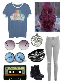 """""""a bit from a few decades"""" by nerdtastical ❤ liked on Polyvore featuring Michele, J Brand, Zara, Junk Food Clothing and Monki"""
