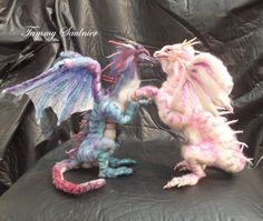 OOAK Custom made Pose-able Needle felted by DragonSongStudio
