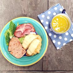 Ham salad + Croissant + Pumpkin juice = Happy meal