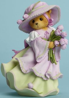 Easter Bear Figurine: Cherished Teddies by Artists Priscilla and Glen Hillman