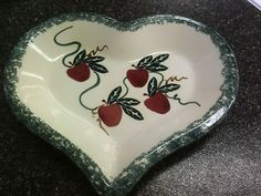 Signed CHAPARRAL POTTERY Heart-Shaped Tray/Bowl