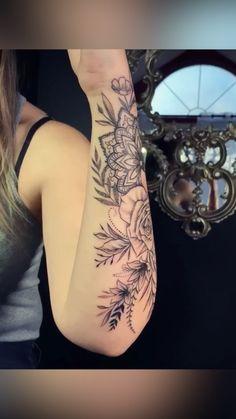 Half Sleeve Tattoos Forearm, Mandala Tattoo Sleeve, Tattoos For Women Half Sleeve, Shoulder Tattoos For Women, Best Sleeve Tattoos, Rose Shoulder Tattoos, Female Arm Tattoos, Forearm Tattoos For Women, Upper Shoulder Tattoo