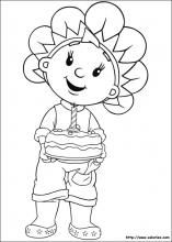 Coloriage de Fifi et son gâteau
