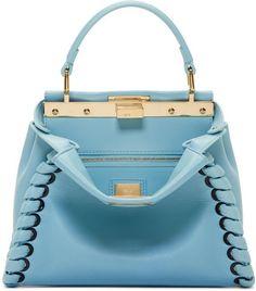 Fendi Blue Mini Peekaboo Bag Fendi Clothing 21f9f851fe65a