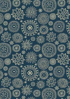 Winter pattern by Nata Dvoretskaya, via Behance