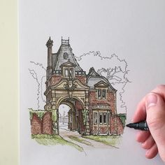 A little illustration of a gatehouse in The New Forest. #art #drawing #pen #sketch #illustration #linedrawing #architecture #gatehouse #thenewforest #hampshire #england by phoebeatkey