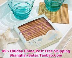 brisa do mar 40pcs=10box bambu coaster com caixa de presente     http://pt.aliexpress.com/store/product/60pcs-Black-Damask-Flourish-Turquoise-Tapestry-Favor-Boxes-BETER-TH013-http-shop72795737-taobao-com/926099_1226860165.html   #presentesdecasamento#festa #presentesdopartido #amor #caixadedoces     #noiva #damasdehonra #presentenupcial #Casamento