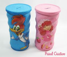 Aluminum Cans, Plastic Containers, Art N Craft, Paper Craft, Fabric Painting, Handicraft, Dyi, Cola Decoupage, Recycling
