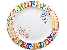 I love the way the swirls trickle down onto the center of the plate.  It doesn't have to be for a Happy Birthday plate, but you could incorporate this into many designs.
