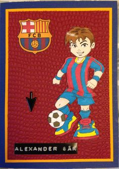 Kenny K stamps, Fc Barcelona birthday card