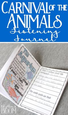 Easy to use listening journal and quick print fact sheets! I love this idea for when we do Carnival of the Animals Music Lesson Plans, Music Lessons, Music Station, Listening Station, Listening Skills, Carnival Of The Animals, Music Classroom, Classroom Ideas, Music Worksheets