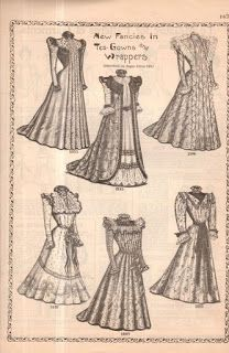 All The Pretty Dresses: Late Victorian Black Silk Tea Gown