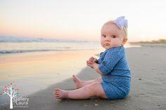 Beach Family photos Mt Pleasant SC photographer, Isle of Palms Charleston 6 month baby on beach photos