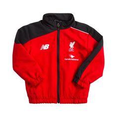 76b64a402e6 Liverpool New Balance childrens red black presentation tracksuit jacket  2015-16