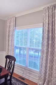 Not So Newlywed McGees: Dining Room Curtains