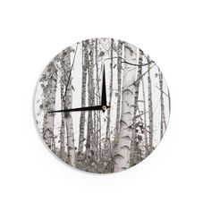 Kess InHouse Suzanne Harford 'Airy' Floral Wall Clock