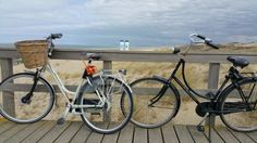 Spiralps in Kijkduin.  Mooie uitzicht met fietsen (niet van mij).