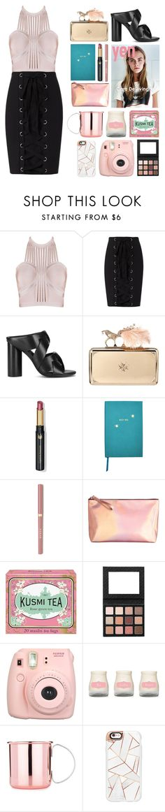 """""""4.864"""" by katrina-yeow ❤ liked on Polyvore featuring Exclusive for Intermix, Senso, Alexander McQueen, Dr.Hauschka, Sloane Stationery, Kusmi Tea, Fujifilm and Casetify"""