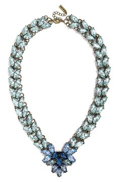 This sparkly blue crystal necklace will look fabulous with a LBD.