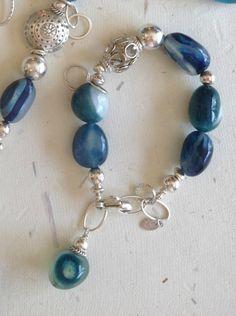Verigated Blue Chaldecony Braclet with by PoshDesignsJewelry, $139.00