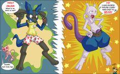 pictures of pokemon | funnylucariomewtoocopy 2 - Funny pokemon pics