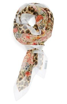 I wish Alexander McQueen were still alive to create more beautiful prints.  I love his scarves!  Alexander McQueen 'Patchwork Skull' Modal & Silk Scarf available at #Nordstrom