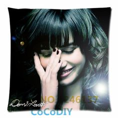 Pillow Cover Bedding Demi Lovato Singer Funny Free Ship Comfort Cheap Cushion Square Soft Custom Pillowcase Two sides