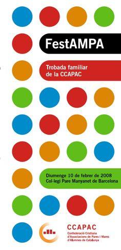 Fulletó FestAmpa CCAPAC, 2008.  #design #religion #education