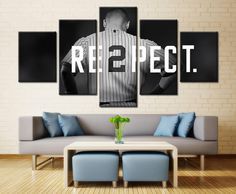 5 Piece New York Yankees Captain Baseball Canvas Painting Frames - It Make Your Day Canvas Paintings For Sale, Painting Frames, Painting Canvas, Spray Painting, Canvas Frame, Canvas Wall Art, Canvas Prints, Baseball Canvas, New York Yankees
