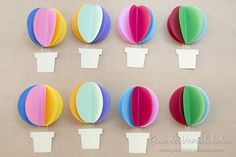Bright garland with paper balloons - Simple Craft Ideas Paper Balloon, Balloon Crafts, Kids Crafts, Easy Crafts, Special Needs Art, English Classroom Decor, Party Stores, Colored Paper, Diy Christmas Ornaments