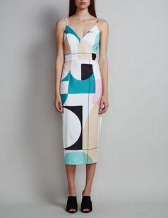 Shona joy cosmic palm cocktail dress