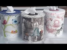 How to make toilet paper door with milk can Aluminum Can Crafts, Tin Can Crafts, Diy Home Crafts, Diy Para A Casa, Coffee Can Crafts, Decoupage Furniture, Fabric Boxes, Milk Cans, Wine Bottle Crafts