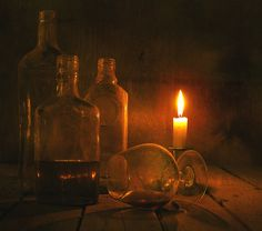 candle light and glass...great effects...