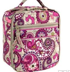 bd8c28aaed Vera Bradley Lunch Break Paisley Meets Plaid insulated travel bottle lunch  tote NWT