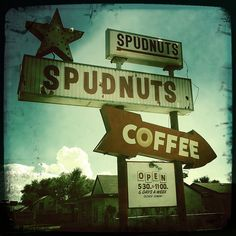 Spudnuts - Amarillo, Texas  We had them in Iowa.  Didn't get them very often but what a treat!!