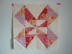 Month 2 of the Quilt Now BOM - Ribbon Dance in The Lovely Hunt by Lizzy House and Carkai by Carolyn Friedlander