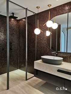 Lighting at the Bathroom of Villa Son Vida Vida Design, Ash, Villa, Studio, Bathroom, Lighting, Majorca, Light Fixtures, Studios