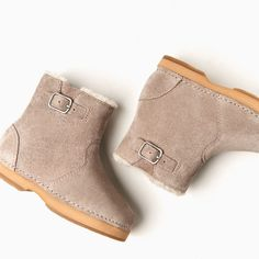 LIGHTWEIGHT LINED LEATHER BOOTS-SHOES AND BAGS-BABY GIRL | 3 months-3 years-KIDS | ZARA United States
