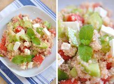 Couscous Salat mit Melone, Minze und Feta
