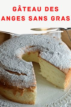 Very sweet and frothy, fat-free, high and soft fat-free angel cake: the angel cake. For me, it was the first … - Landlikes Sites Angel Cake, First Bite, Cheesecakes, Bagel, Coco, Cake Recipes, Biscuits, Food And Drink, Sweets