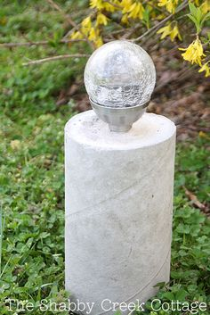 DIY concrete pillar solar light - the perfect way to upgrade cheap solar lights