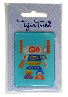 Jumbo Robot Magnet by Tiger Tribe! This giant epoxy magnet is perfect for holding artwork, invitations, party prizes, gift bag prizes and little gift add ons! Party Prizes, Party Favors, Childrens Gifts, Kids Gifts, Tiger Tribe, Designer Kids Clothes, Kids Online, Little Gifts, Epoxy
