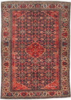 4'8 x 6'7 Vintage Malayer Persian Rug Tribal by CemMarket on Etsy