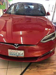 """So with this beautiful 2016 Tesla Model-S we did a full exterior detail, fixing up some minor scratches along the way. Then afterward we did a Clear Bra to protect the investment! For a seamless look we did full hood/fenders so that it would not have a """"ghost line,"""" which most people don't mind or even see really but, personal preference ;)) I love the full hood. #ClearBra #Detail"""