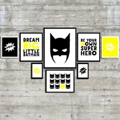 Superhero Wall Art Dream Big Little Batman by PrintsAndPrintables