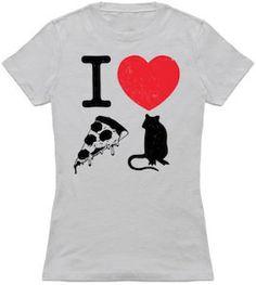 I Love Pizza Rat T-Shirt.