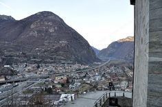Vista della vallata dal Forte di Bard - Valle d'Aosta - Italia - View of the valley from the Bard Fortress - Aosta Valley - Italy