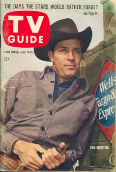 "July 19, 1958. Dale Robertson of NBC's ""Tales of Wells Fargo."""